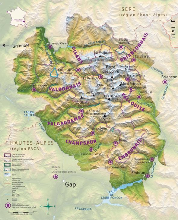 Les vallées de massif desz ecrins